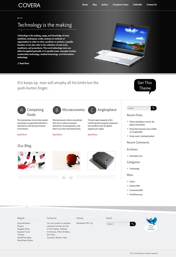 Covera WordPress Technology Theme