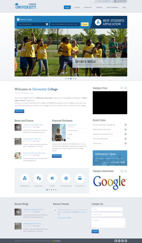 Education Academy Responsive WordPress Theme