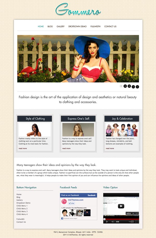 Gommero 9 in 1 WordPress Theme
