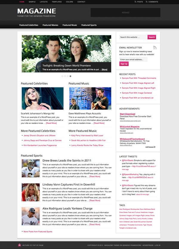 Magazine 2.1 WordPress Responsive Theme