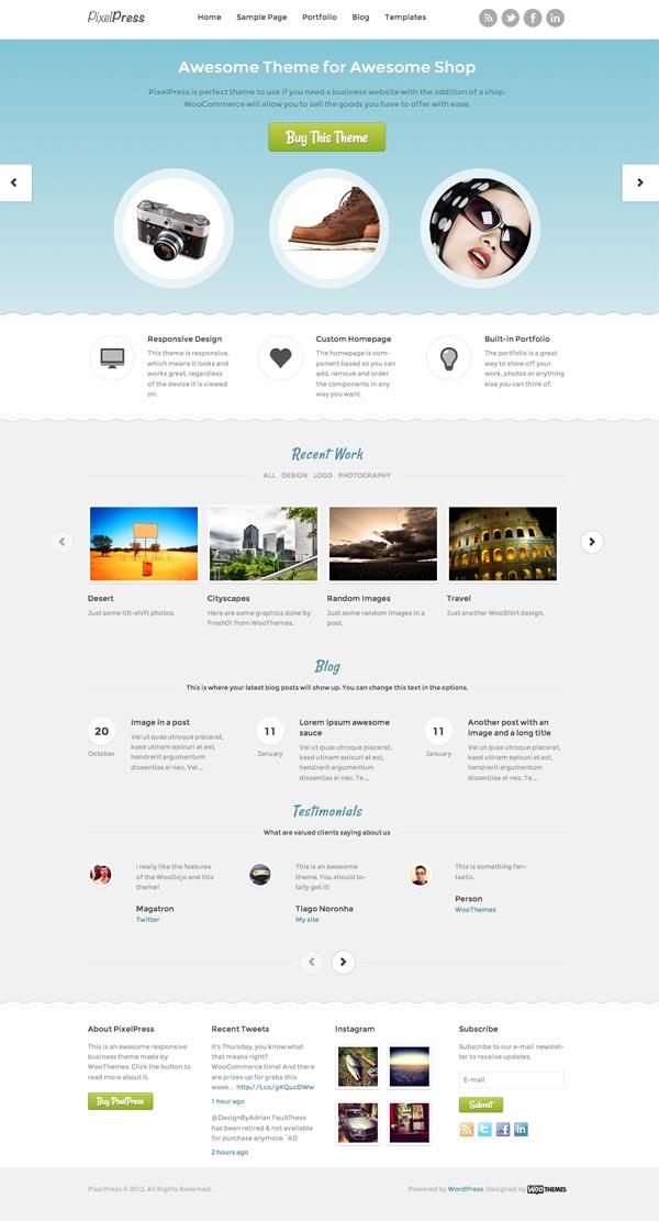 PixelPress Business WordPress Theme
