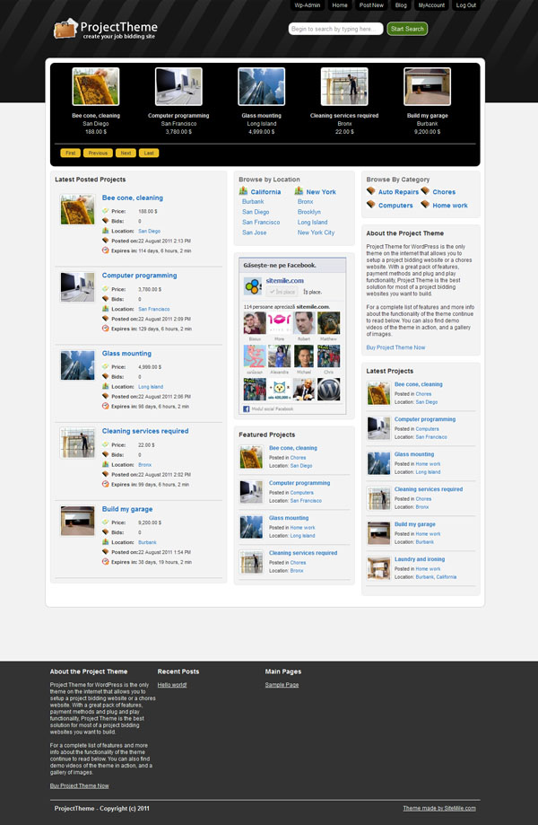 Project Responsive WordPress Theme