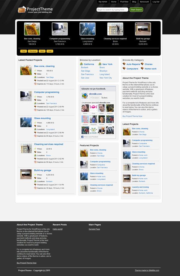 Project Responsive WordPress Theme