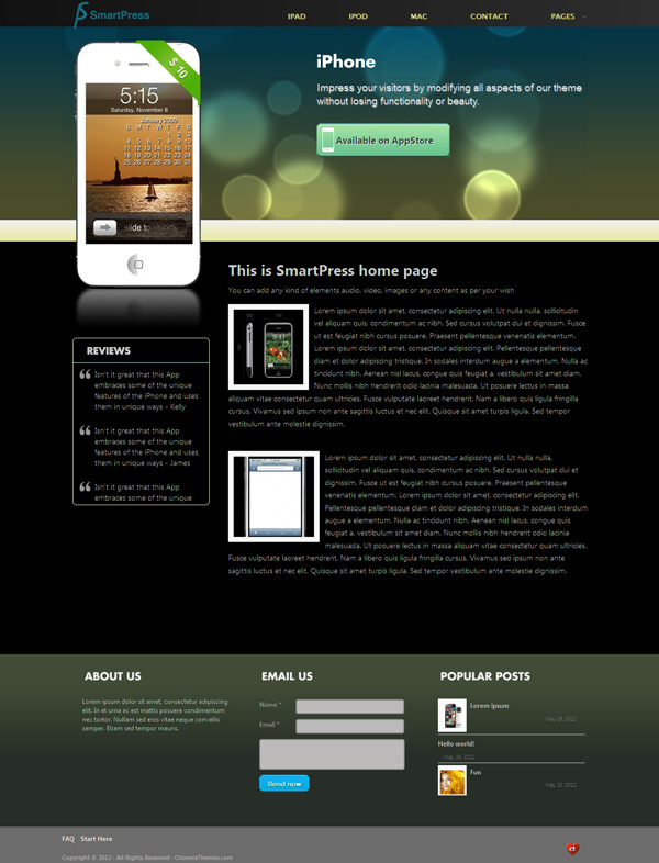SmartPress WordPress App Store Theme