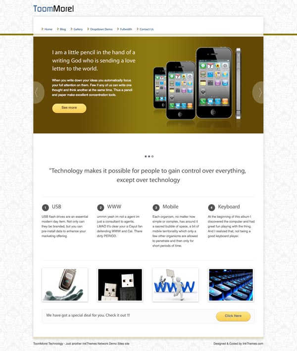 ToomMorel Free WordPress Theme