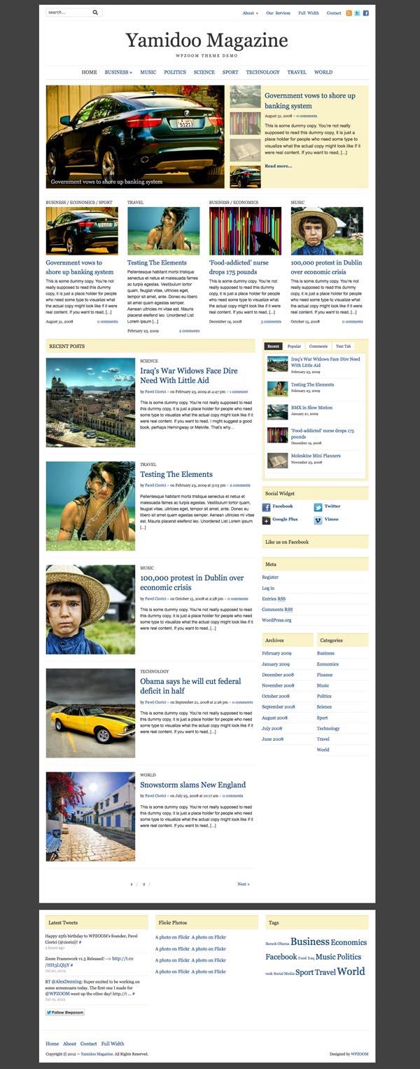 Yamidoo Magazine 2.0 News Portal WordPress Theme