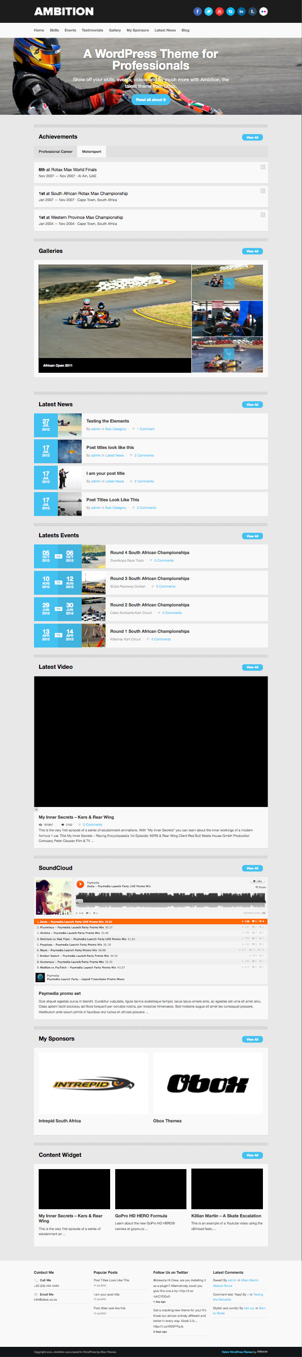 Ambition Responsive WordPress Motorsport Theme