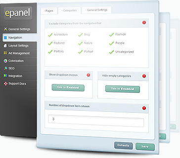 ElegantThemes ePanel Options