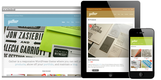 Gather WordPress Responsive Theme
