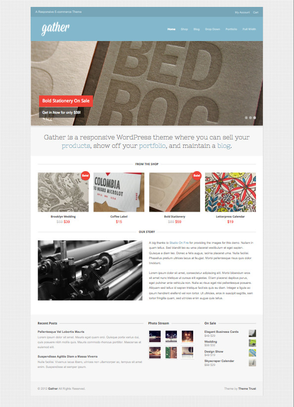 Gather WordPress eCommerce Theme