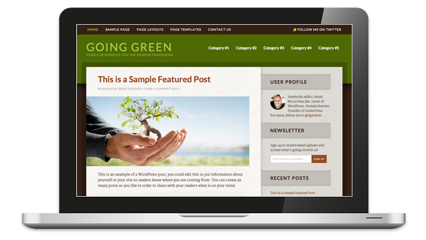 Going Green WordPress Theme