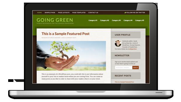 Going Green WordPress Theme