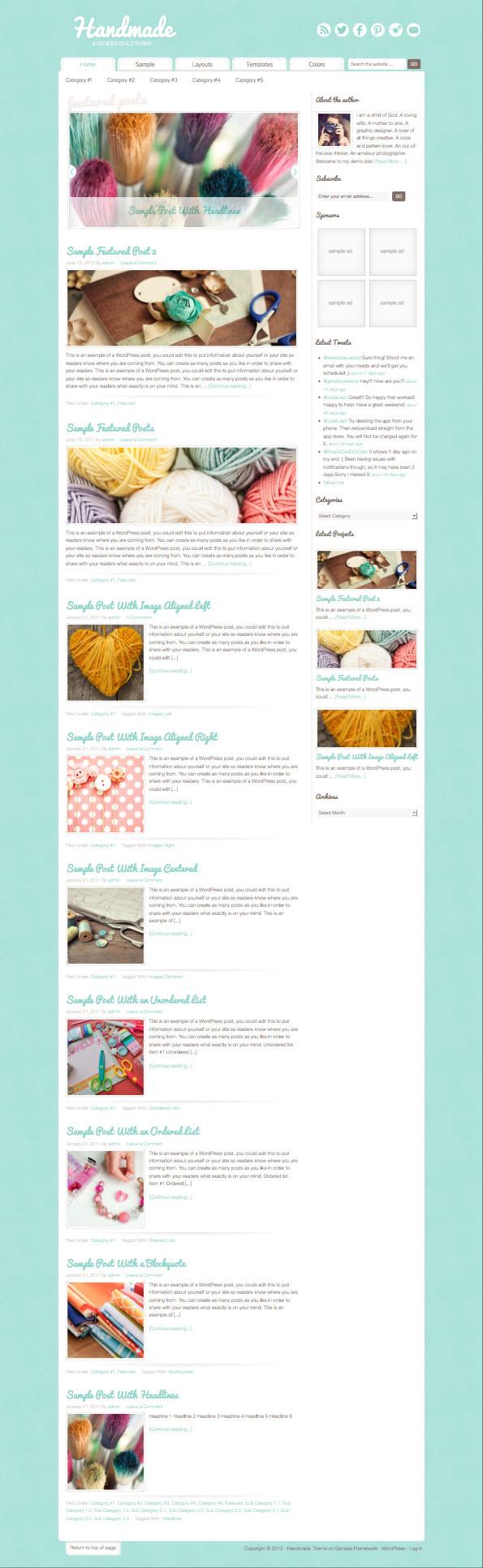 Handmade WordPress Woman Crafts Theme