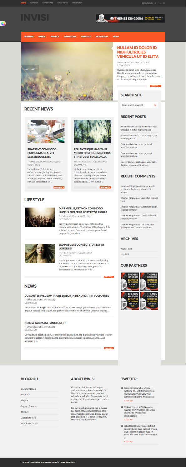 Invisi Responsive WordPress Magazine Style Theme