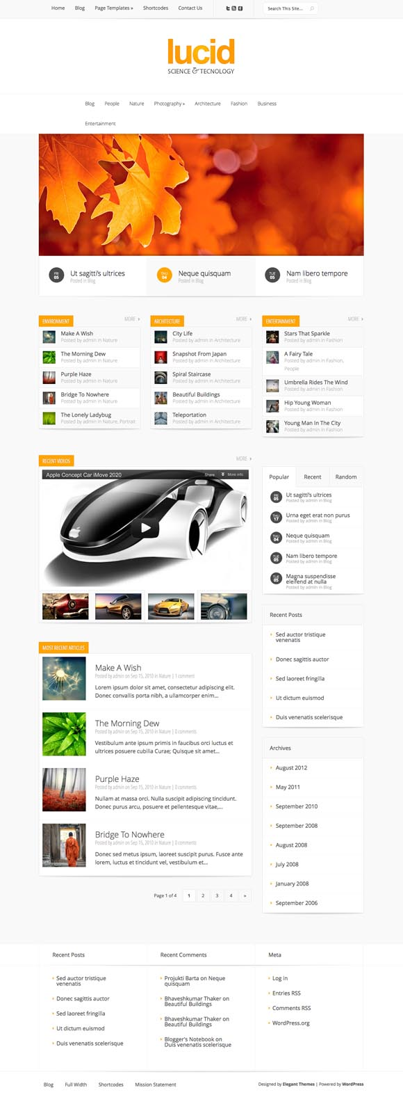 Lucid WordPress Blogging Theme