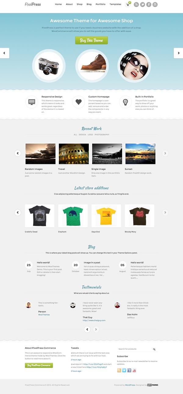 PixelPress Commerce Responsive WordPress Theme