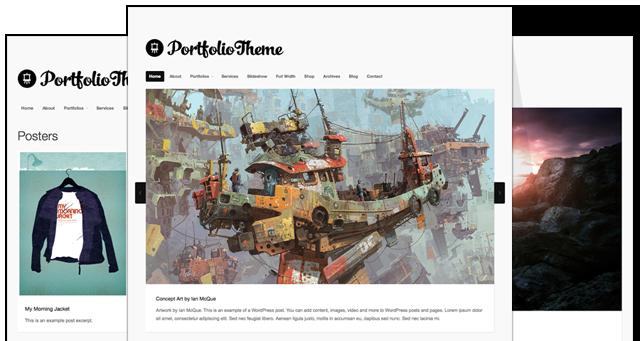 Portfolio Responsive WordPress Theme v4