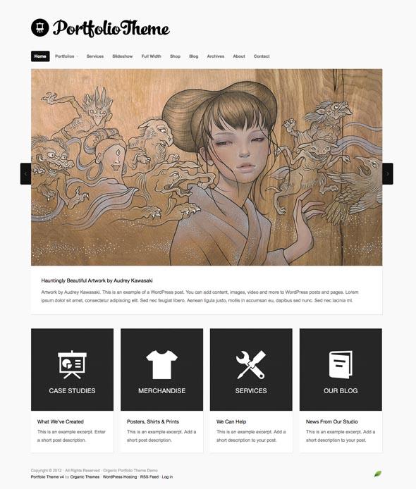 Portfolio WordPress Theme v4