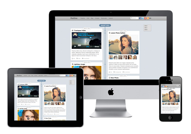 Postline Responsive WordPress Facebook Theme