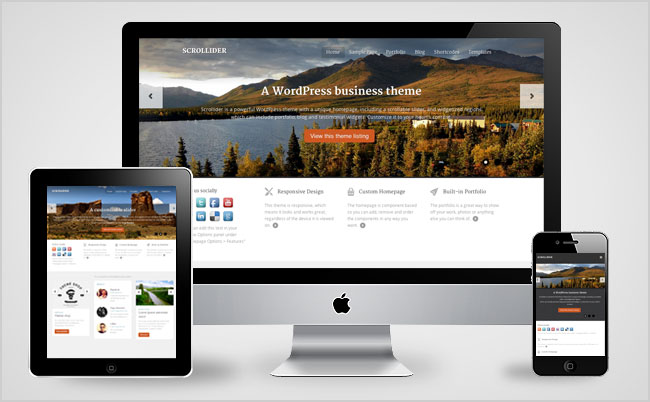 Scrollider WordPress Business Theme