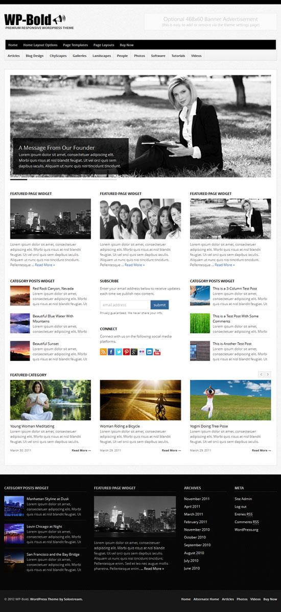 WP-Bold Magazine Style Theme