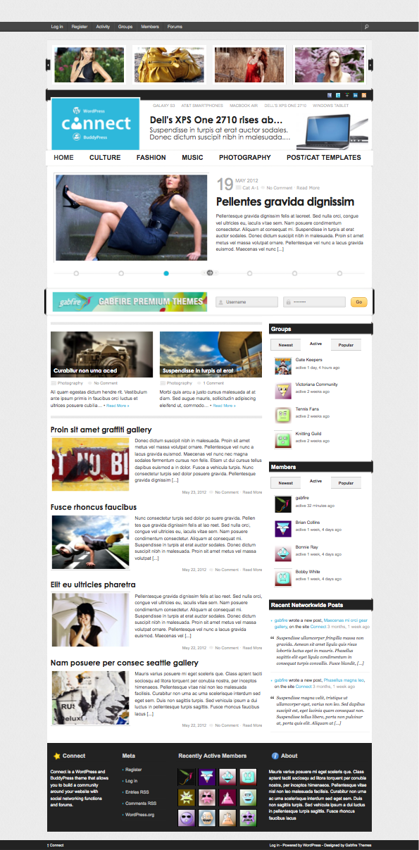 Connect WordPress Newspaper Theme