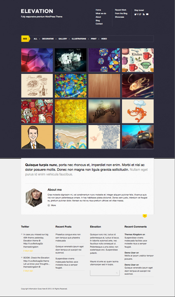 Elevation WordPress Tumblog Theme