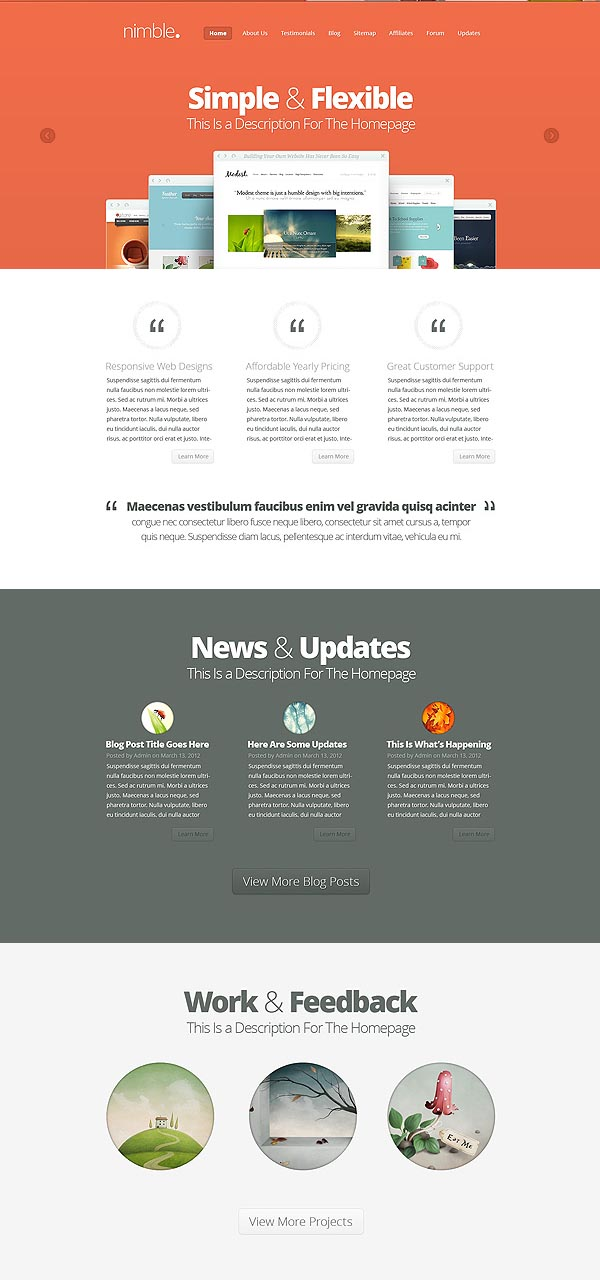 Nimble WordPress Business Theme