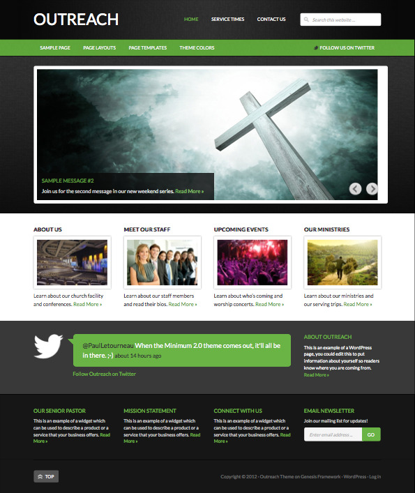 Outreach 2.0 Responsive WordPress Church Theme