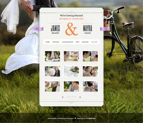Responsive WordPress Wedding Planner Theme