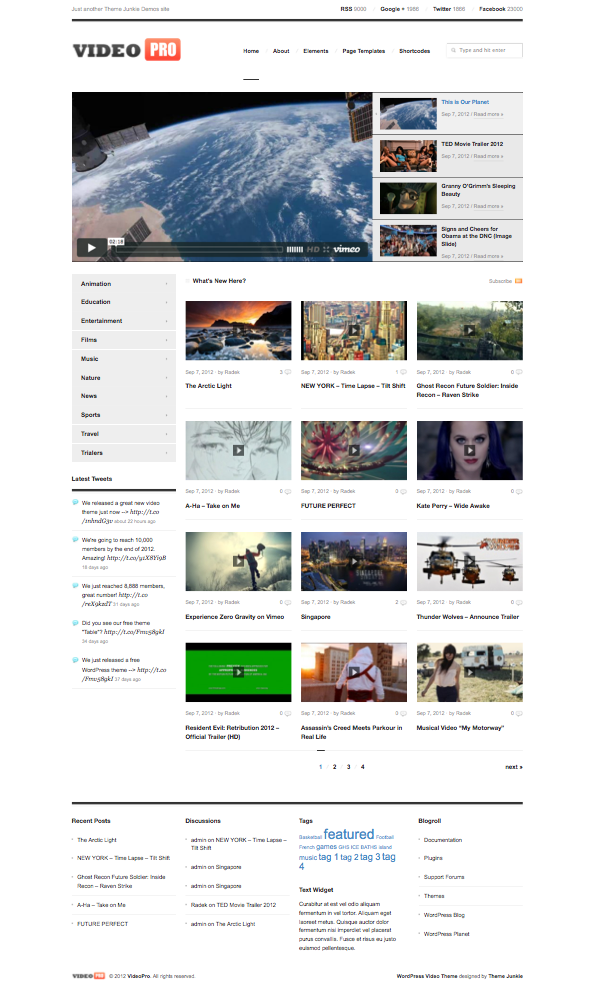 VideoPro WordPress Video Hosting Theme