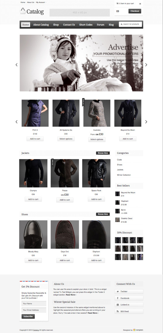 Catalog WordPress eCommerce Theme