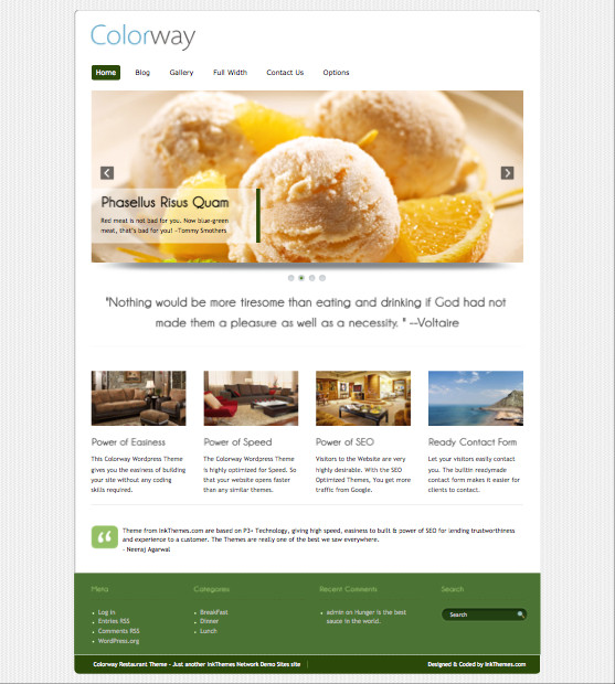 Colorway v3 WordPress Food Theme