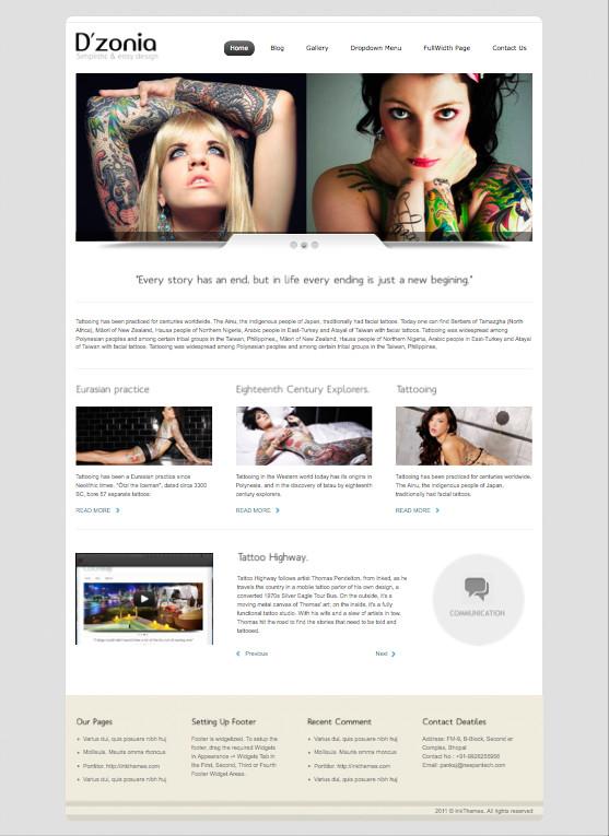 Dzonia WordPress Tattoo Theme