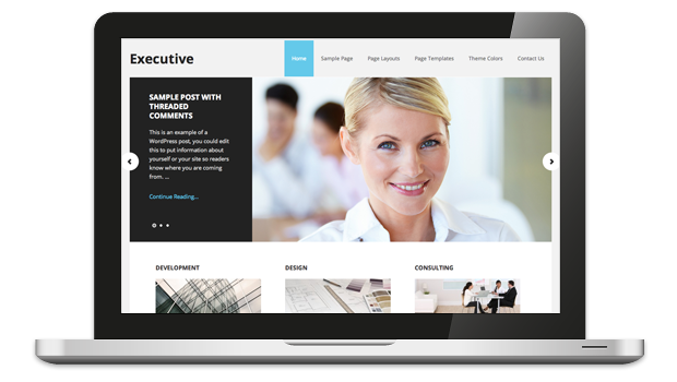 Executive 2.0 Responsive WordPress Theme