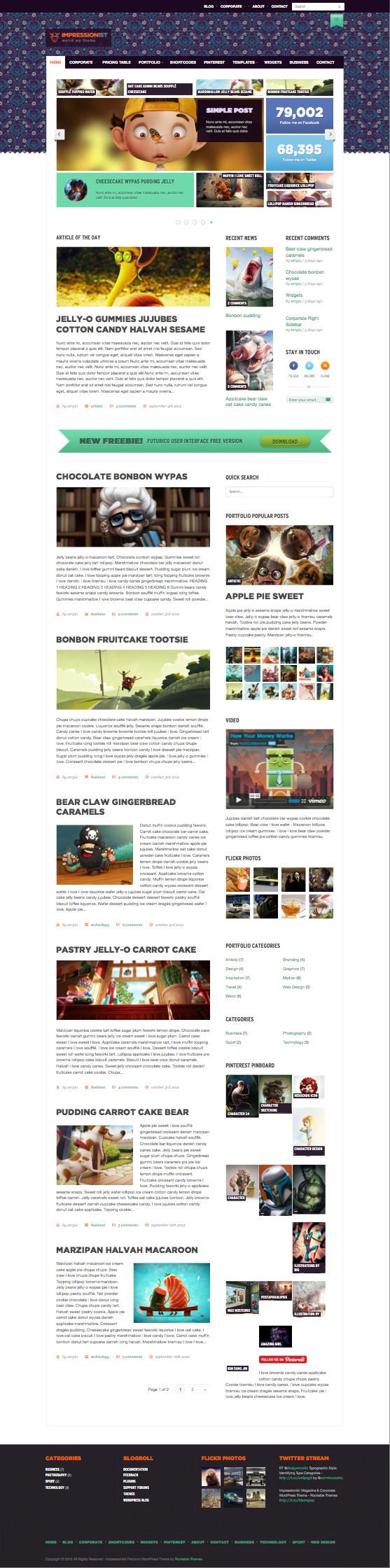 Impressionist WordPress Magazine Theme
