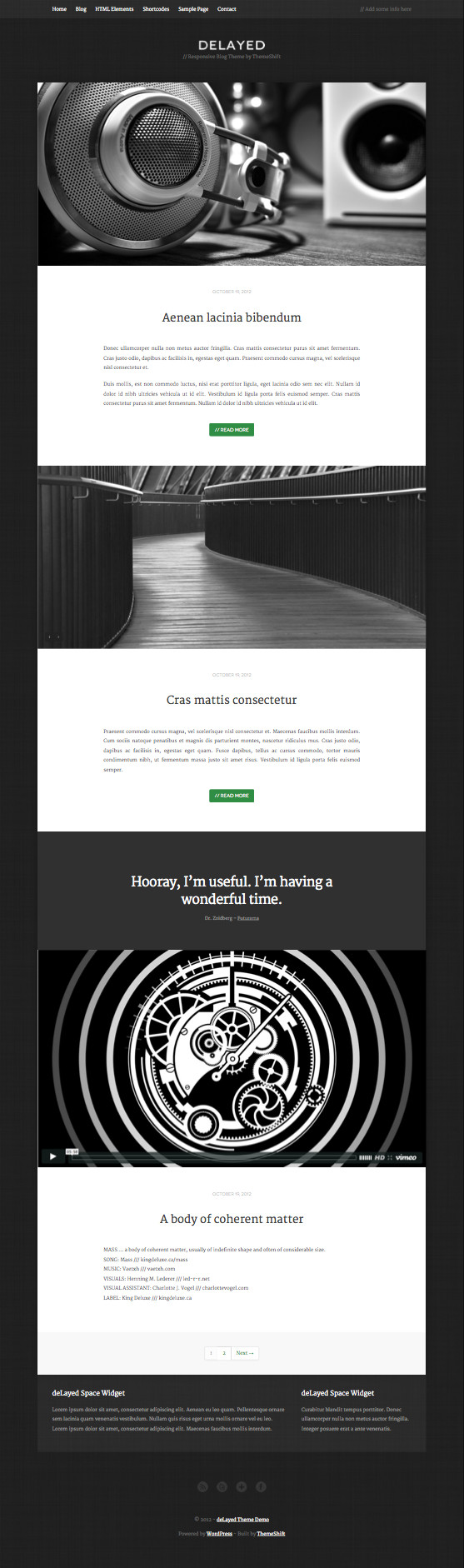 deLayed WordPress Minimal Theme