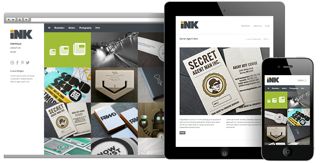 Ink Responsive WP Portfolio Theme