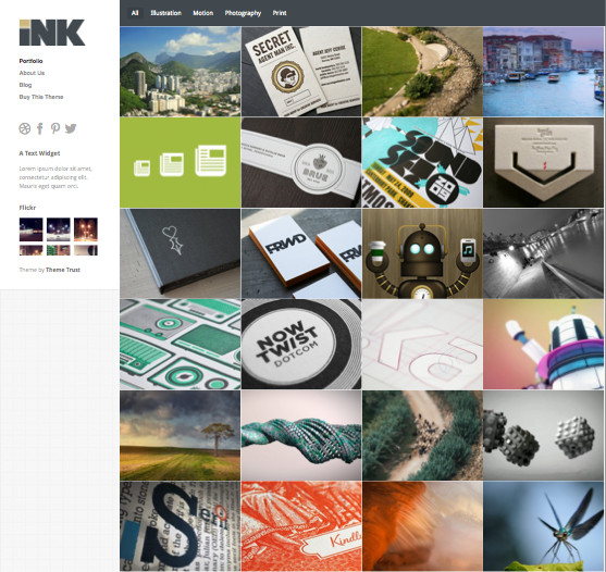 Ink WordPress Portfolio Theme