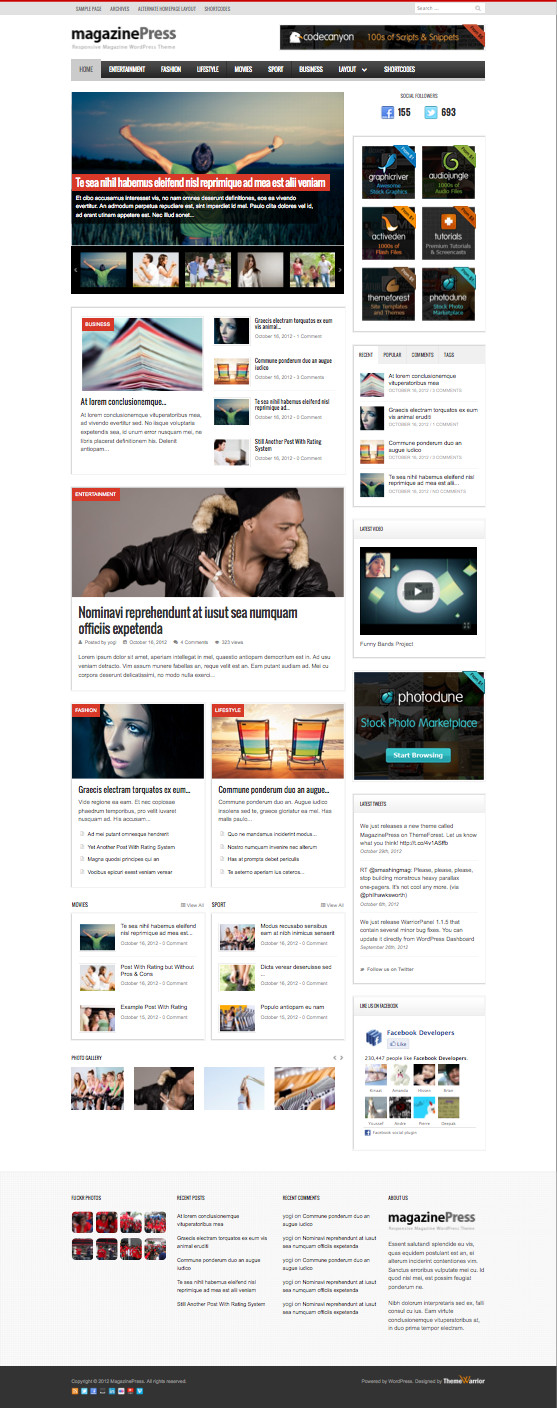 MagazinePress Responsive WordPress Magazine Theme
