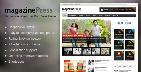 MagazinePress WordPress Magazine Style Theme