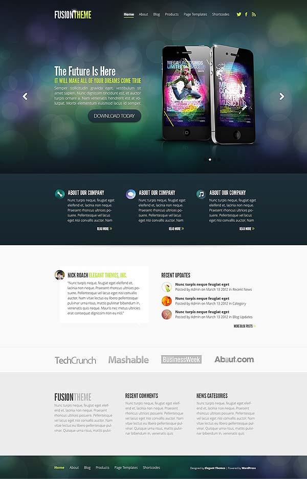 Fusion Responsive WordPress Tech Theme