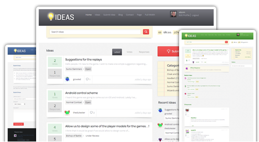 Ideas WordPress Feedback Software Theme