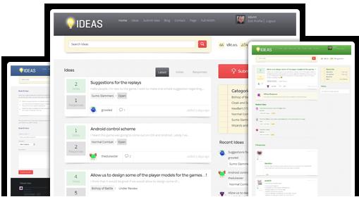 Ideas WordPress Feedback Software Theme