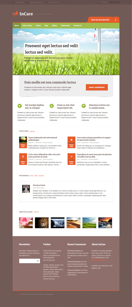 InCare Responsive WordPress Theme