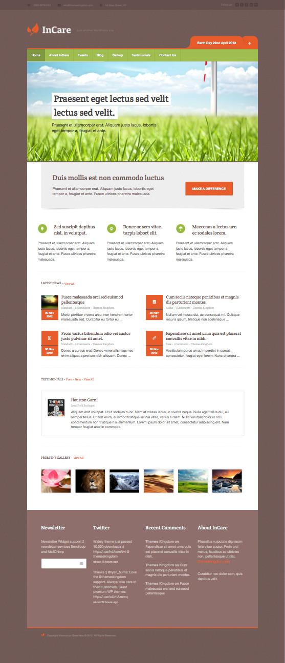 InCare Responsive WordPress Theme