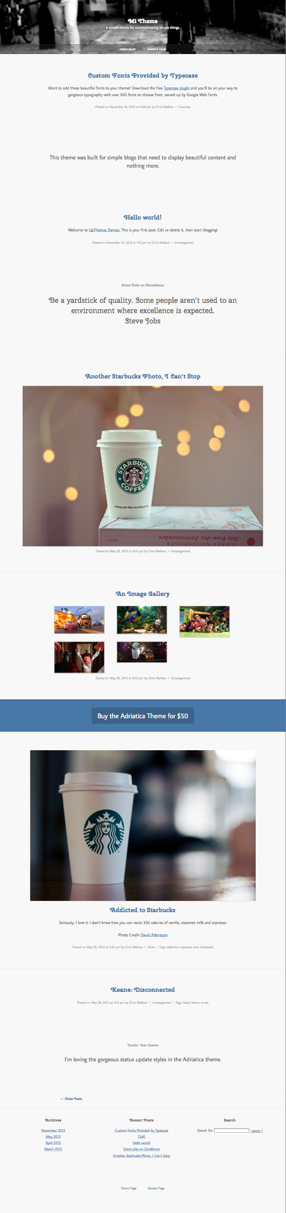 Mi WordPress Tumblr Posts Theme