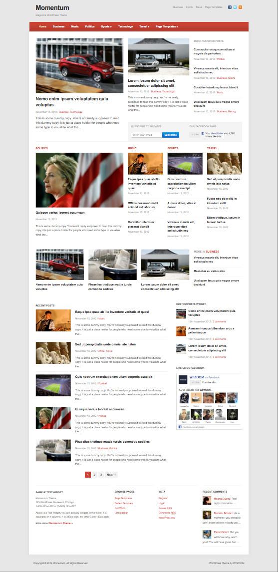 Momentum Responsive WordPress Newspaper Theme