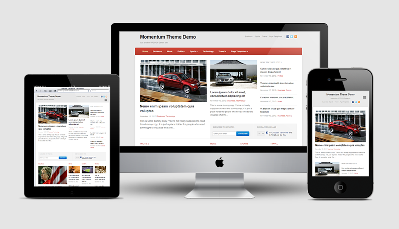 Momentum WordPress Newspaper Theme