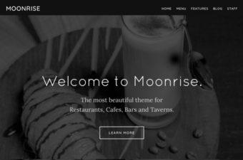 Moonrise WordPress Theme for Restaurant Services